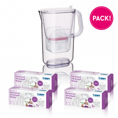 1 jaar balanced alkalized water pack + AQUAlizer
