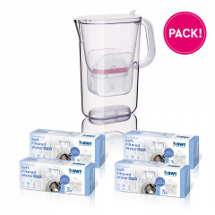 1 an Soft Filtered Water Extra pack + AQUAlizer