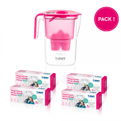 1 jaar Magnesium Mineralized Water + Zinc pack + Vida Pink Kiss